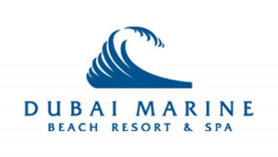 Dubai Marine Beach logo blue